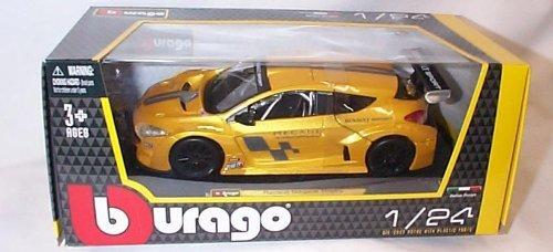 burago gold renault megane trophy car 1.24 scale diecast model by burago (Gold Trophy Figure)