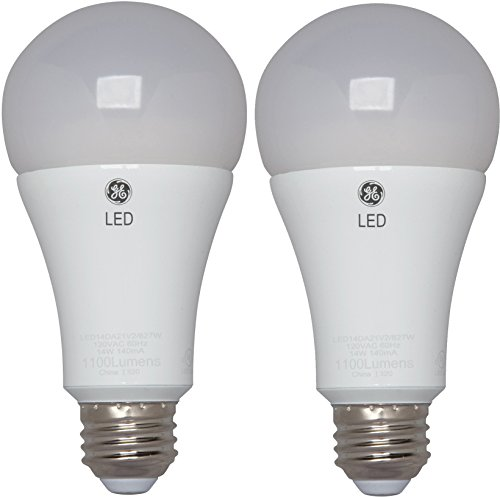 GE Lighting 65943 LED A21 Light Bulb with Medium Base, 14-Watt, Soft White, 2-Pack