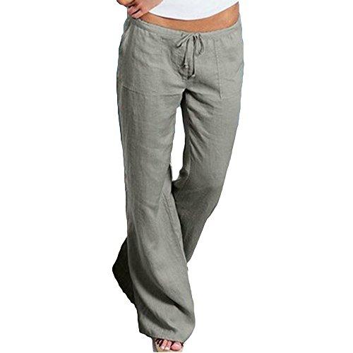 Moderna Grigio Con Cotone Comodi Da Pantaloni Casual Sportivi Morbidi Fitness In Lunga Coulisse w7APq8