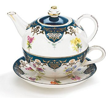 Teapot Duo - Vanderbilt Porcelain Duo Teapot Tea For One From Biltmore House Collection
