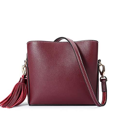 Rouge Rouge cuir bandoulière en la couleur mode Sacs en Simple Bandoulière Femmes Diagonales Vin Jessiekervin À Yy3 Couleurs XZqTwRw