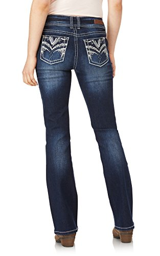 WallFlower Women's Juniors Luscious Curvy Embellished Bootcut Jeans in Kyle, 9 by WallFlower (Image #4)