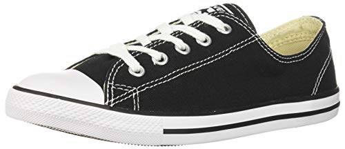 Converse Women's Chuck Taylor Dainty Low Top Sneaker Black Monochrome 6 M Us