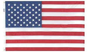 5'x8' 100% Nylon Made in USA Embroidered Flag