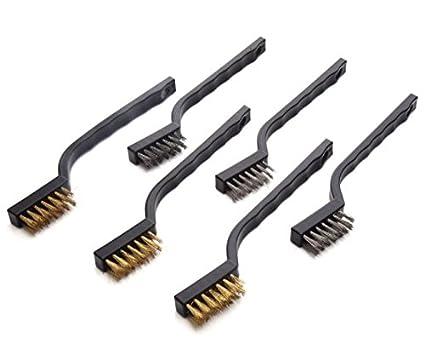 geekbox® Mini juego de cepillo de alambre para soldadura de limpieza  escoria y óxido b06f0103c0a7