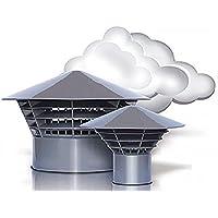 Ventilación Campana campanas sombrero techo entlüfter DN 160/150montaje