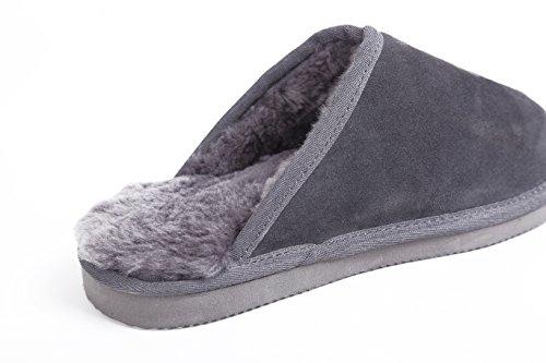 Sheepskin L Australian A Slippers M Men's Grey Lamb B vnz4vFY