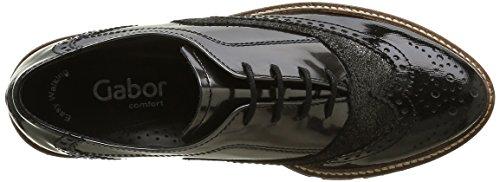 Gabor Shoes Comfort Sport, Zapatos de Cordones Derby para Mujer Multicolor (anthr/schw S.S/C)