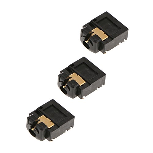 Baosity 3Pcs Replacement 3.5mm Port Headphone Jack Socket Repair For Xbox One Controller, Black