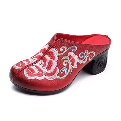 National Summer Leather Slippers Wind Wear Yellow Baotou Cool Heels Forty Slippers Semi Fashion Slippers Middle KPHY Real W5zXYqwn