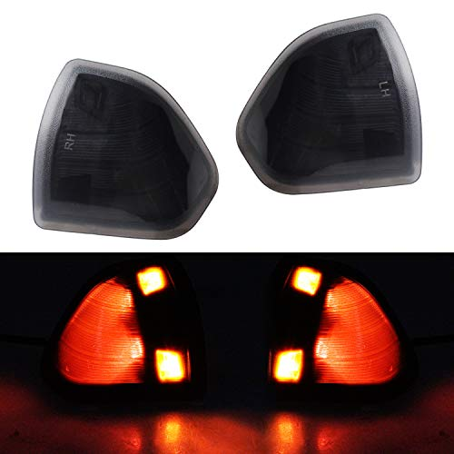 HERCOO LED Turn Signal Light Side Mirror Left and Right Lamps Smoke Cover Lens for 68302828AA 68302829AA Compatible with 2010-2018 Dodge Ram 1500 2500 3500 4500 5500, Pack of 2 ()