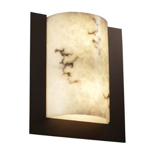 Justice Design Group Rectangular Sconce (Justice Design Group FAL-5562-NCKL LumenAria Collection Framed Rectangle 3-Sided Wall Sconce (ADA))