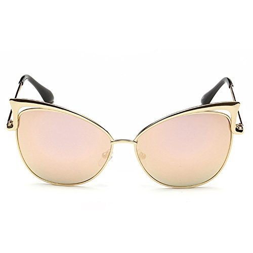 ClearSky Cat Eye Flash Mirror Vintage Design Personality Women's Sunglasses (Wiz Nose)