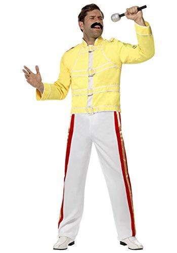 Smiffys Queen Freddie Mercury Costume - Freddie Mercury - Large - Freddie Mercury Fancy Dress Costume