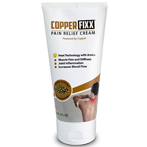 CopperFIXX Pain Relief Cream, 5 Fl Oz Tube powered by Copper with Heat Technology with Arnica for Muscle Pain and stiffness and Joint Inflammation, Knee, Back, Shoulder and Arthritis Pain. Fast Acting