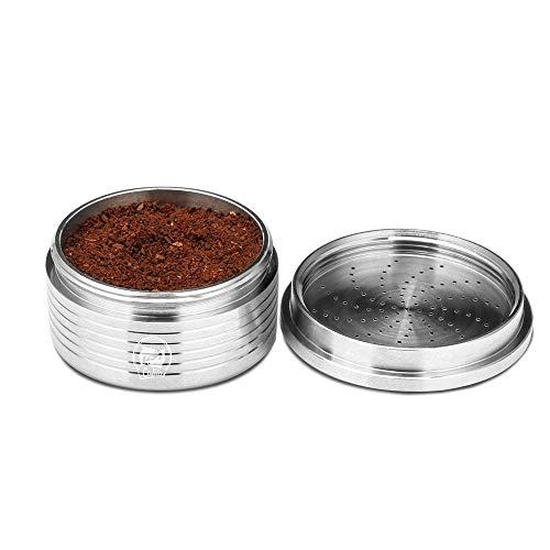 Taza de café recargable cápsula, Konesky acero inoxidable vacío cápsulas de café vainas tazas reutilizable café espresso taza compatible para máquina de ...