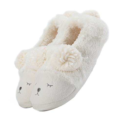 Donna Peluche Bianca Pantofola low Invernale Top Animale 6fPWtwq