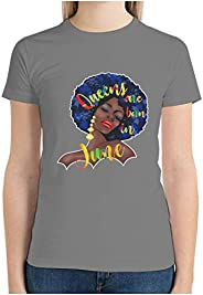 Women Cotton T-Shirt Queens are Born in June Graphic Short-Sleeve Crew Neck Customized Shirts