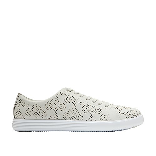 (Cole Haan Women's Grand Crosscourt Perforated Sneaker 8 White Perforated-Optic White)