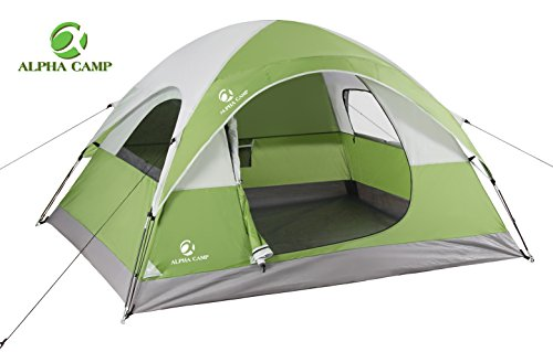 ALPHA CAMP 3 Person Tent for Camping Tent Easy Setup - 8' x 7' Green