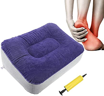 Aids Circulation and Tired Legs and Feet Go Travel Inflatable Foot Rest