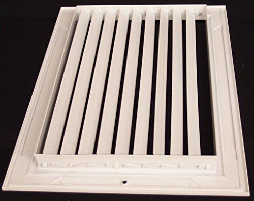 14''w X 10''h Aluminum Adjustable Return/Suuply HVAC Air Grille - Full Control Horizontal Airflow Direction - Vent Duct Cover - Single Deflection [Outer Dimensions: 15.85''w X 11.85''h] by HVAC Premium (Image #3)