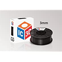 IC3D 3mm ABS 3D Printer Filament 2lb Black - MADE IN USA