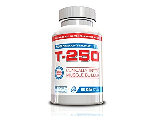 Testosterone Booster For Men- T-250, 120 Capsules, 30 Day Supply, Muscle Builder for Men All In One Supplement, Testosterone Booster For Men, Fat Burner For Men, Nitric Oxide For Men, Lose Your Gut, Full Body Muscle, Blast Your Biceps, Helps Get Powerful Legs, Increase Energy & Endurance, Boost Metabolism, Helps Build Lean Muscle, Muscle Up for Spring, Muscle Building Hack of 2015