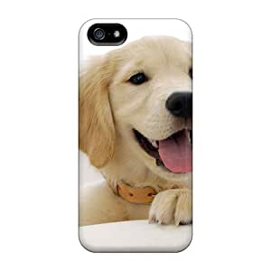 Durable Defender Cases For Iphone 5/5s Covers(golden Retriever Puppy)