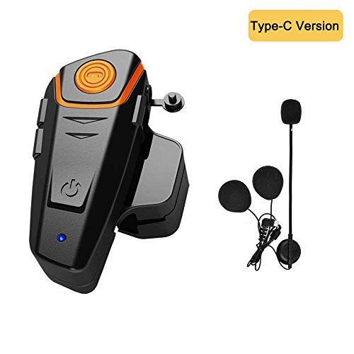 HuanGou Motorcycle Helmet Bluetooth, BT-S2 Motorcycle Bluetooth Headset up to 3 Riders 1000M Bluetooth Helmet Headphones Communication Ski Helmet Bluetooth Headset Walkie-Talkie for Snowmobile(1 pack)