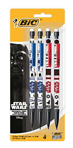 Star Wars BIC Mechanical Pencil, Medium Point (0.7 mm), 4-Count