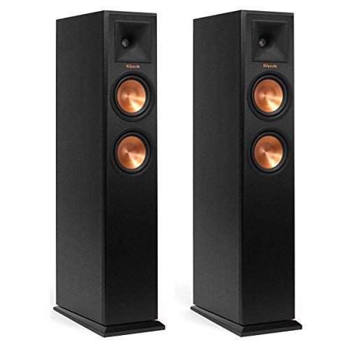 Klipsch RP-250F Reference Premiere Floorstanding Speaker with Dual 5.25 inch Cerametallic Cone Woofers - Pair (Ebony) ()