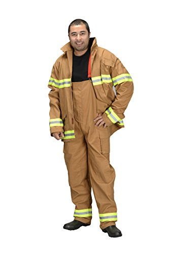 Aeromax Adult Fire Fighter Suit, Tan, Large]()