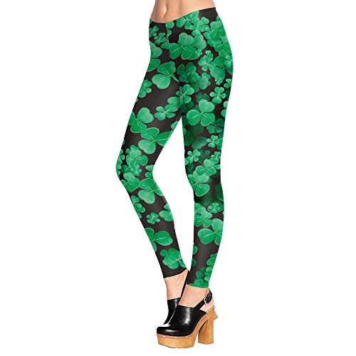 New Yoga Pants Leggings Lucky Shamrocks Printed Graphic Leggings Sexy 2016 Hot Style Butt Lift High Waist Fitness Legging - New Yoga Pants