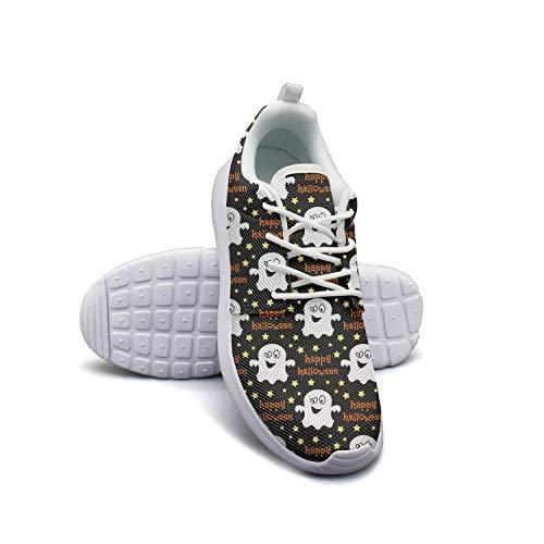 Man's Sneaker Halloween Fantasmas Decor Unique Rubber Sole Running Shoes -