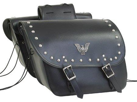 Detachable Motorcycle Saddlebag for Harley & Yamaha