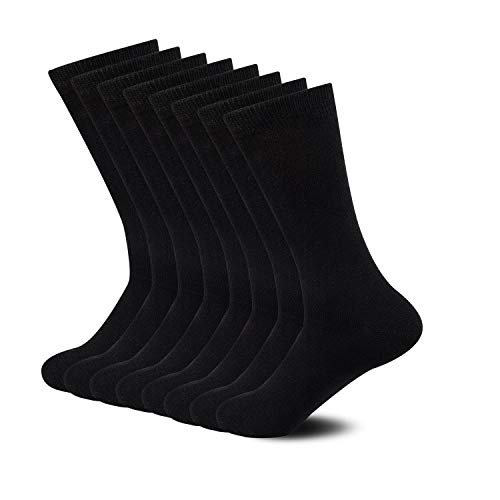 Casual Mens Socks - Sock Amazing Premium Bamboo Socks Black Crew Socks for Men Women 8 Pack Business Dress Socks Casual Socks Work Socks