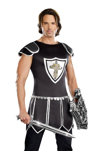 Dreamgirl, One Hot Knight, Black/Silver, (One Hot Knight Costume)