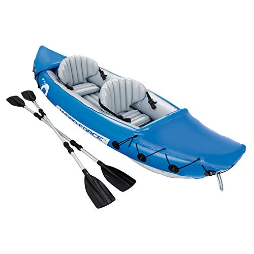 Mitrc Inflatable Kayak 2 Person Inflatable 10ft Floating Kayak Fast Fishing Boat Floating Pool Bed Water Toys Funny Pool Raft