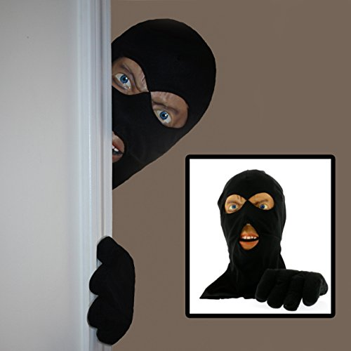Scary Peeper Halloween Decoration - Burglar Prank Face And Hand Look Alike - Easily Attaches On Doorways To Scare Visitors - Scary (Halloween Prank)