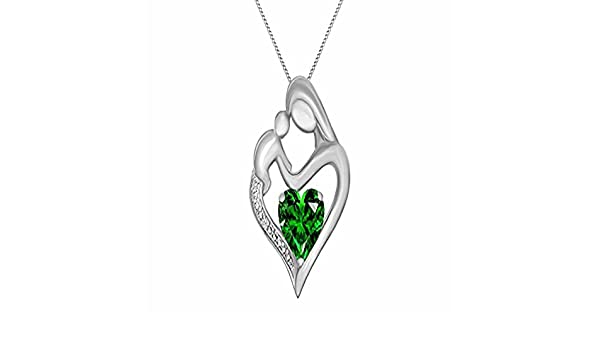 14K White Gold Plated Simulated Excellent Cut White CZ Diamond Classic Heart Pendant With 18 Box Chain Silverraj Jewels Heart Pendant Collection