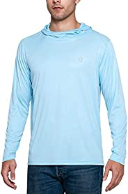 Soniz Men's UPF 50+ Sun Protection Long Sleeve Hoodie Quick Dry Running Outdoor S