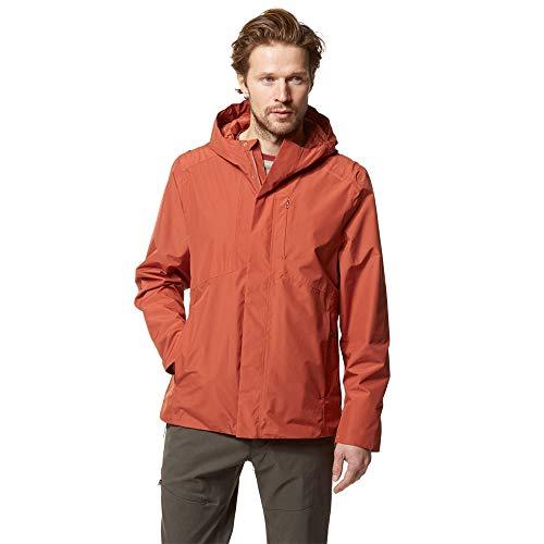 Craghoppers Treviso Waterproof Hooded Jacket - Medium - Orange from Craghoppers