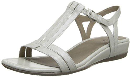 Ecco Touch 25, Sandales Compensées  Femme Blanc (White)