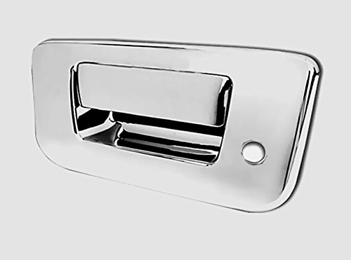 (MaxMate 07-12 Chevy Silverado/GMC Sierra (Not for Classic) Chrome Tailgate Handle Cover Deluxe With Keyhole)