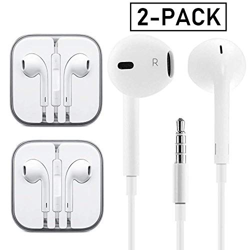 Gaea Earphones With Microphone Premium Earbuds Stereo Headphones And Noise Isolating Headset Made For Apple Iphone Ipod Ipad Samsung Android Mp3 Mp4 2 Pack Buy Online In Fiji At Fiji Desertcart Com Productid 105427589