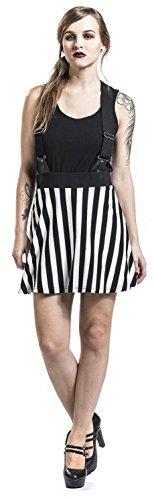 Full Volume by EMP Striped Skater Skirt Falda negro-blanco negro-blanco