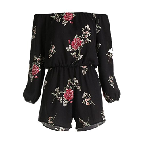 Clearance Sale!! Womens Playsuit for Holiday Summer Jumpsuit Cold Shoulder Romper by-NEWONESUN