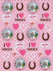 Heart Horseshoes (Heart My Horse Sticker Party Favors (4 sheets))