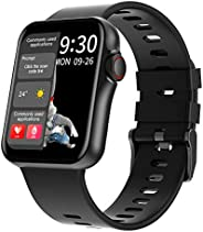 DECWIN Smart Watch,1.6inch IPS Full-Touch Screen Activity Trackers Heart Rate Blood Pressure O2 Monitor Calcul